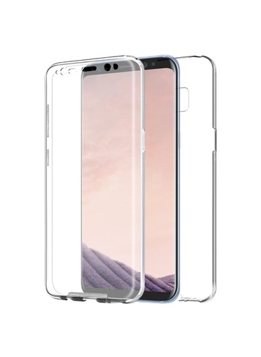 Microsonic Samsung Galaxy S8 Kılıf 6 tarafı tam full koruma 360 Clear Soft  Renksiz